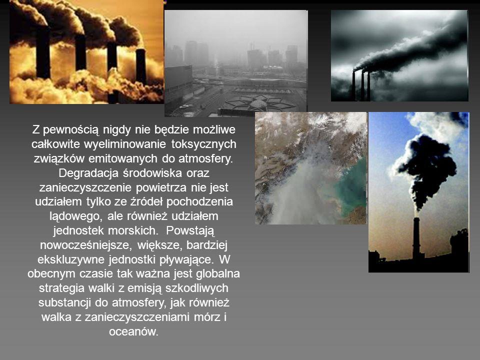 Z pewnością nigdy nie będzie możliwe całkowite wyeliminowanie toksycznych związków emitowanych do atmosfery. Degradacja środowiska oraz zanieczyszczen