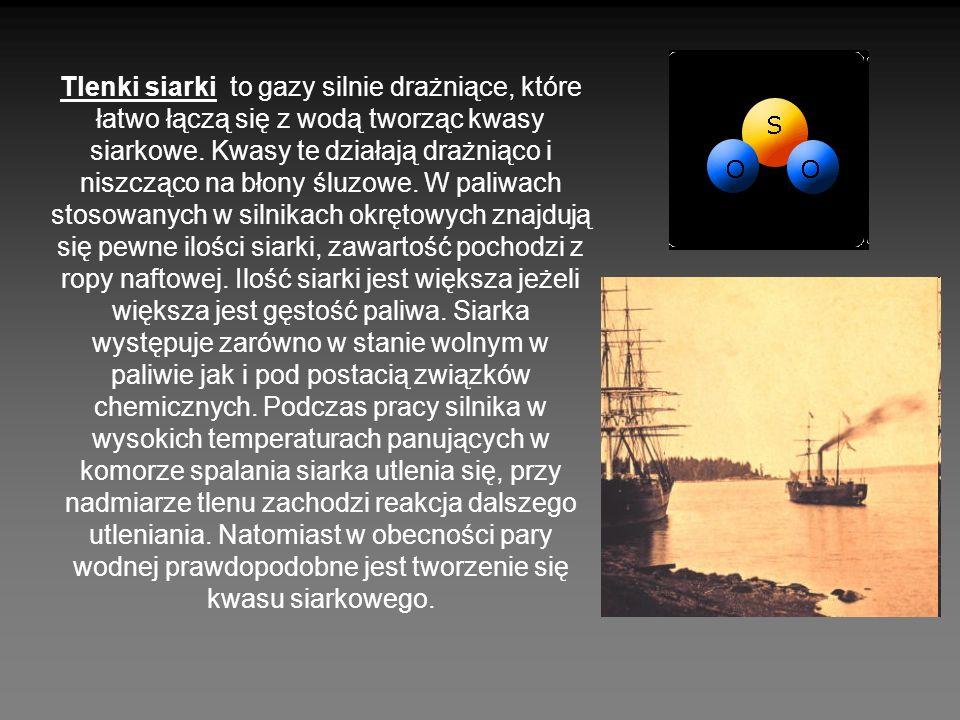 Tlenki siarki to gazy silnie drażniące, które łatwo łączą się z wodą tworząc kwasy siarkowe. Kwasy te działają drażniąco i niszcząco na błony śluzowe.