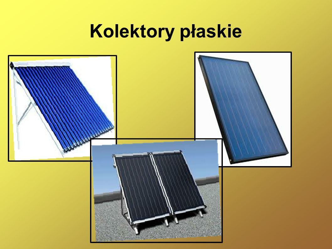 Budowa kolektora płaskiego Typowy kolektor słoneczny składa się z następujących elementów: absorbera (najczęściej blachy miedzianej pokrytej powłoką selektywną), osłony, izolacji (przeważnie wełna mineralna lub pianka poliuretanowa i konstrukcji (obudowy, instalacji, zaworów, króćców pomiarowych i konstrukcji nośnej.
