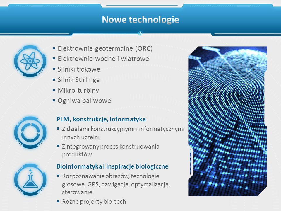 PLM, konstrukcje, informatyka Z działami konstrukcyjnymi i informatycznymi innych uczelni Zintegrowany proces konstruowania produktów Bioinformatyka i