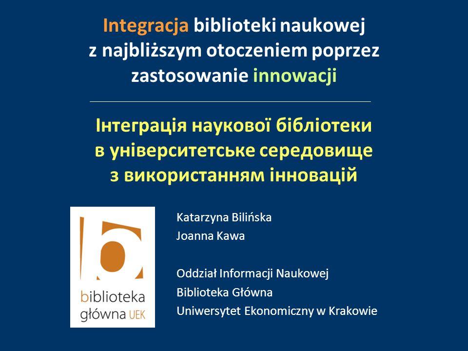Biblioteka Główna Uniwersytetu Ekonomicznego w Krakowie Tritonia Library Vaasa[Finlandia] Biblioteka Wileńskiego Uniwersytetu Technicznego im.