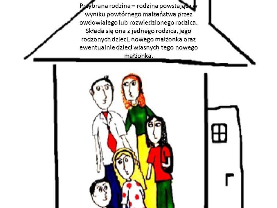 Przybrana rodzina – rodzina powstająca w wyniku powtórnego małżeństwa przez owdowiałego lub rozwiedzionego rodzica.
