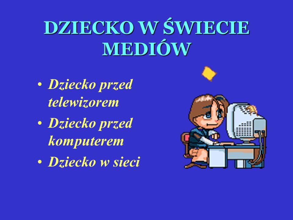 DZIECKO W ŚWIECIE MEDIÓW Dziecko przed telewizorem Dziecko przed komputerem Dziecko w sieci