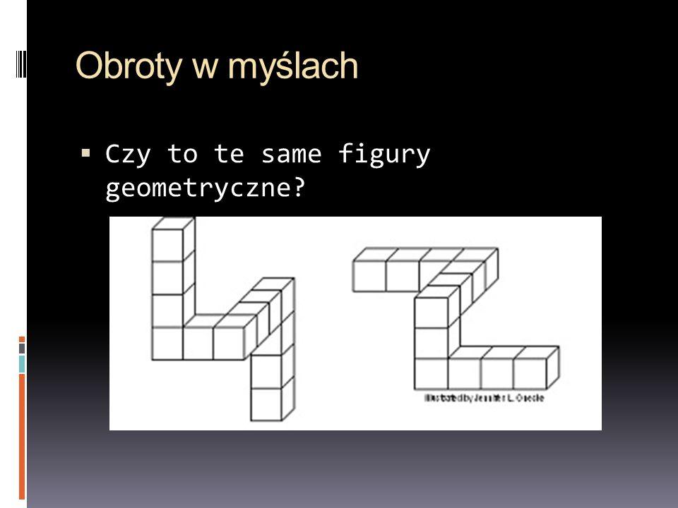 Obroty w myślach Czy to te same figury geometryczne?