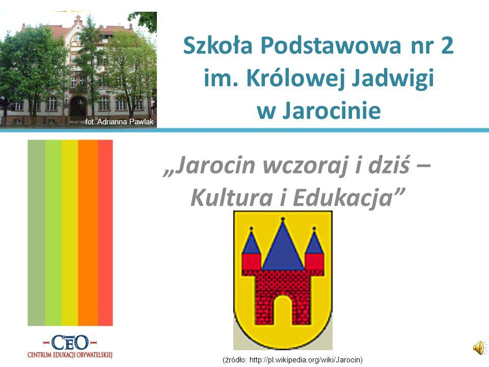 Coś dla turystów… Będąc w Jarocinie należy zobaczyć: Pałac Radolińskich w parku Skarbczyk Muzeum Regionalne w Ratuszu Amfiteatr Ruiny kościoła św.