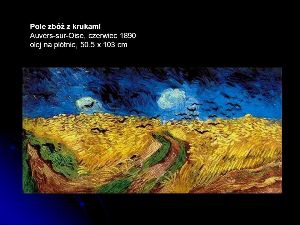 Pole zbóż z krukami Auvers-sur-Oise, czerwiec 1890 olej na płótnie, 50.5 x 103 cm