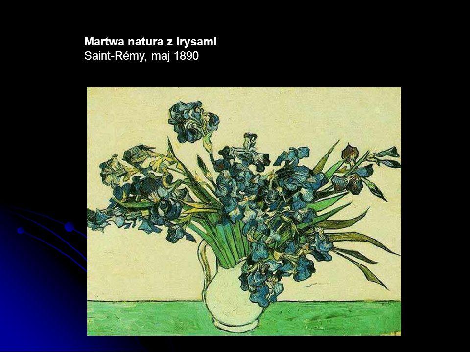 Martwa natura z irysami Saint-Rémy, maj 1890