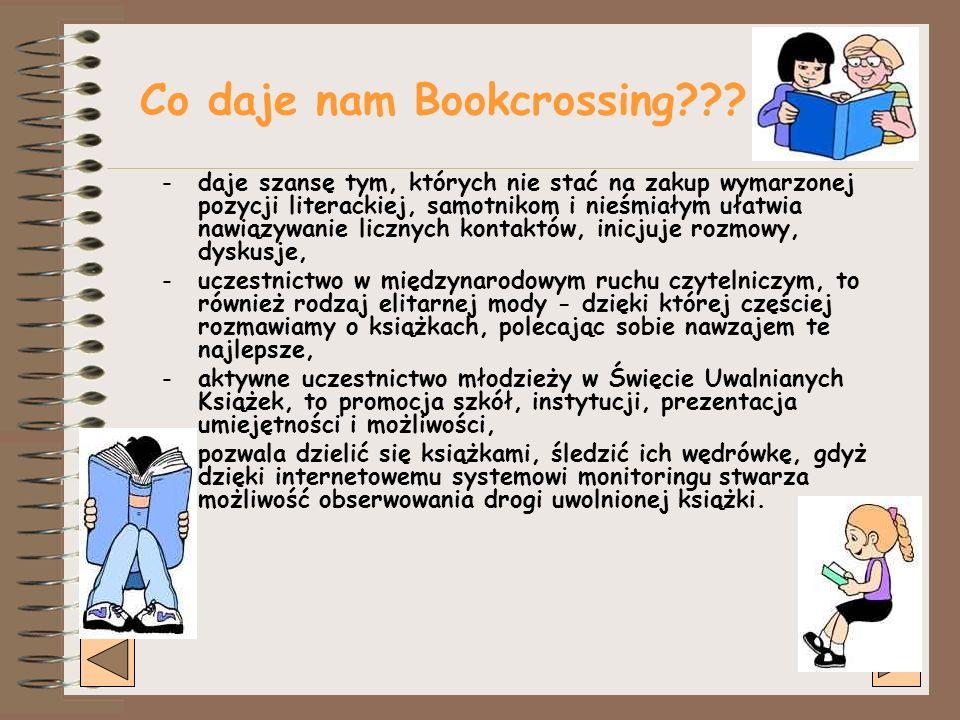 Co daje nam Bookcrossing??.