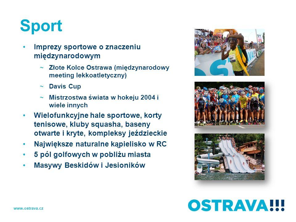 Sport Imprezy sportowe o znaczeniu międzynarodowym ~Złote Kolce Ostrawa (międzynarodowy meeting lekkoatletyczny) ~Davis Cup ~Mistrzostwa świata w hoke
