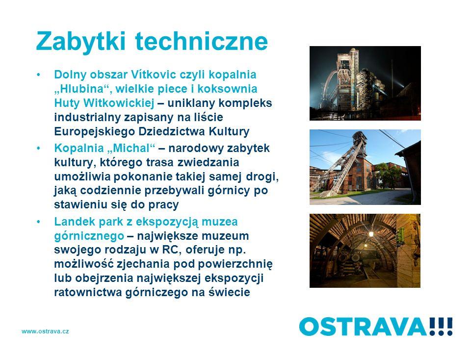 Zabytki techniczne Dolny obszar Vítkovic czyli kopalnia Hlubina, wielkie piece i koksownia Huty Witkowickiej – uniklany kompleks industrialny zapisany