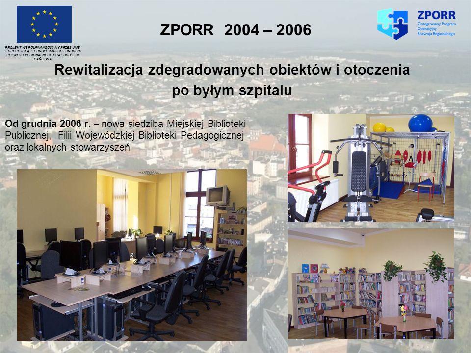 Od grudnia 2006 r. – nowa siedziba Miejskiej Biblioteki Publicznej, Filii Wojewódzkiej Biblioteki Pedagogicznej oraz lokalnych stowarzyszeń PROJEKT WS