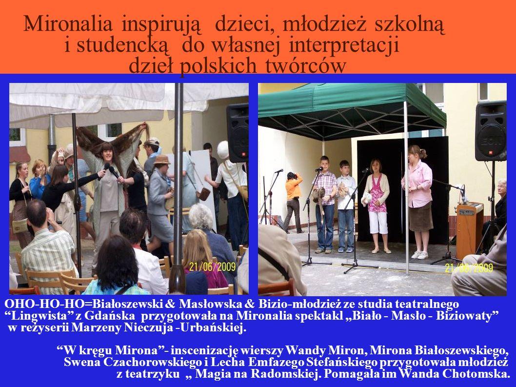 OO. Mironalia inspirują dzieci, młodzież szkolną i studencką do własnej interpretacji dzieł polskich twórców OHO-HO-HO=Białoszewski & Masłowska & Bizi