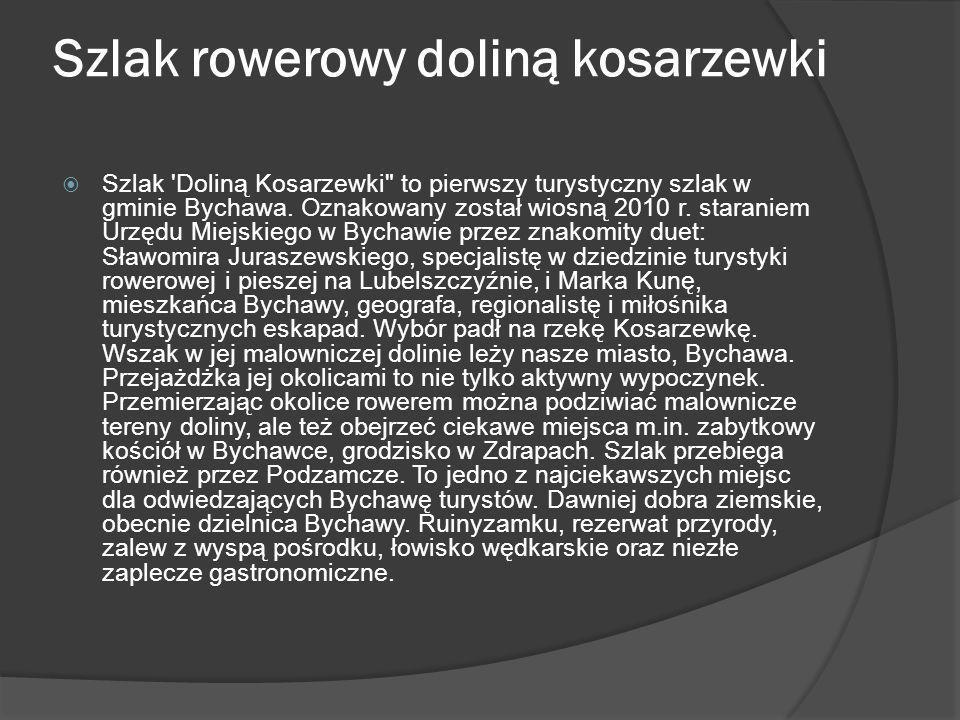 Szlak rowerowy doliną kosarzewki Szlak 'Doliną Kosarzewki