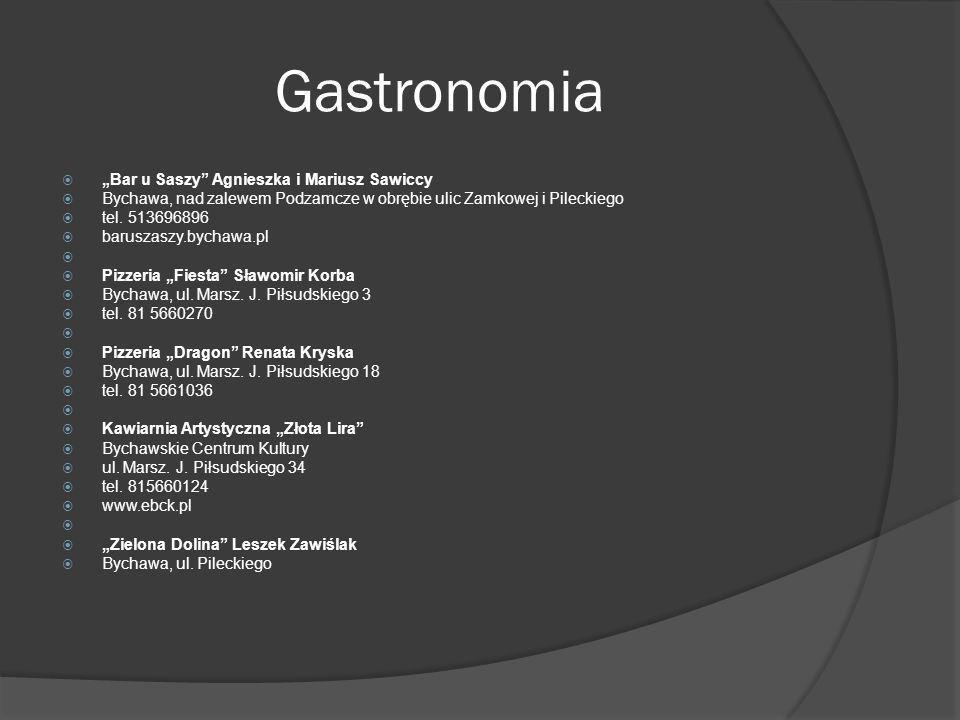Gastronomia Bar u Saszy Agnieszka i Mariusz Sawiccy Bychawa, nad zalewem Podzamcze w obrębie ulic Zamkowej i Pileckiego tel. 513696896 baruszaszy.bych