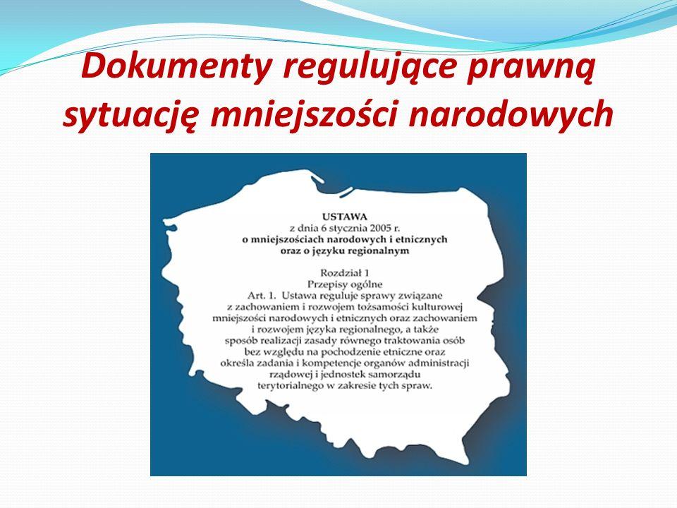 Dokumenty regulujące prawną sytuację mniejszości narodowych