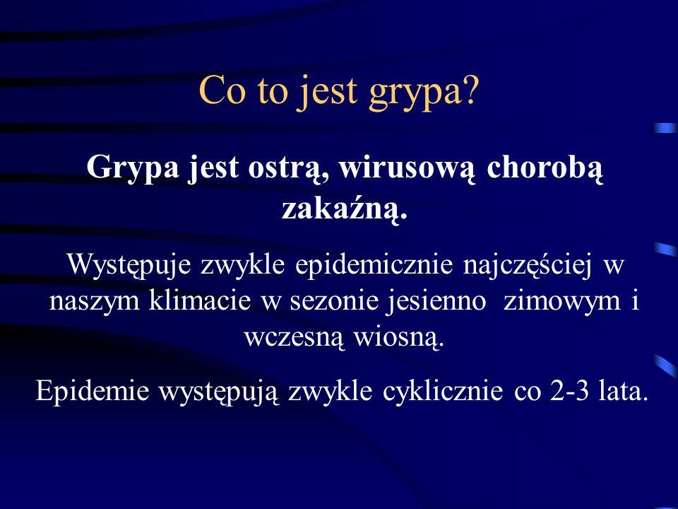 Wirus grypy należy do rodziny Orthomyxoviridae, która dzieli się na 2 rodzaje.