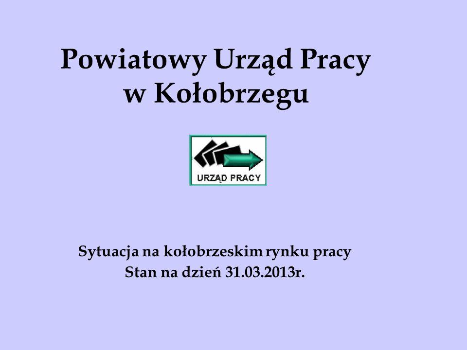 Powiatowy Urząd Pracy w Kołobrzegu Sytuacja na kołobrzeskim rynku pracy Stan na dzień 31.03.2013r.