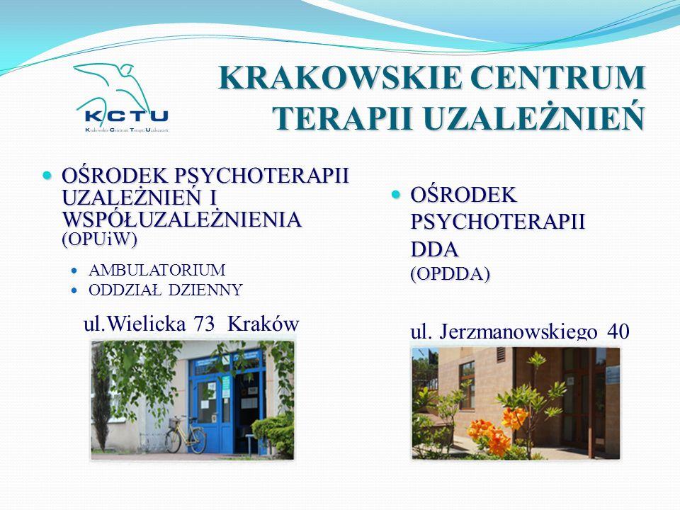 KRAKOWSKIE CENTRUM TERAPII UZALEŻNIEŃ OŚRODEK PSYCHOTERAPII UZALEŻNIEŃ I WSPÓŁUZALEŻNIENIA (OPUiW) OŚRODEK PSYCHOTERAPII UZALEŻNIEŃ I WSPÓŁUZALEŻNIENI
