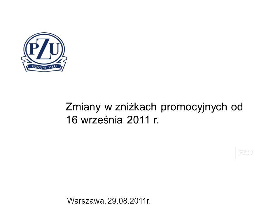 Warszawa, 29.08.2011r. Zmiany w zniżkach promocyjnych od 16 września 2011 r.
