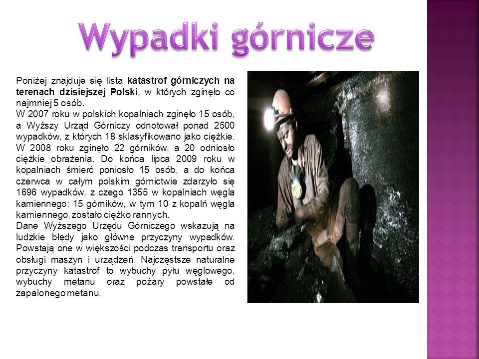 Poniżej znajduje się lista katastrof górniczych na terenach dzisiejszej Polski, w których zginęło co najmniej 5 osób. W 2007 roku w polskich kopalniac