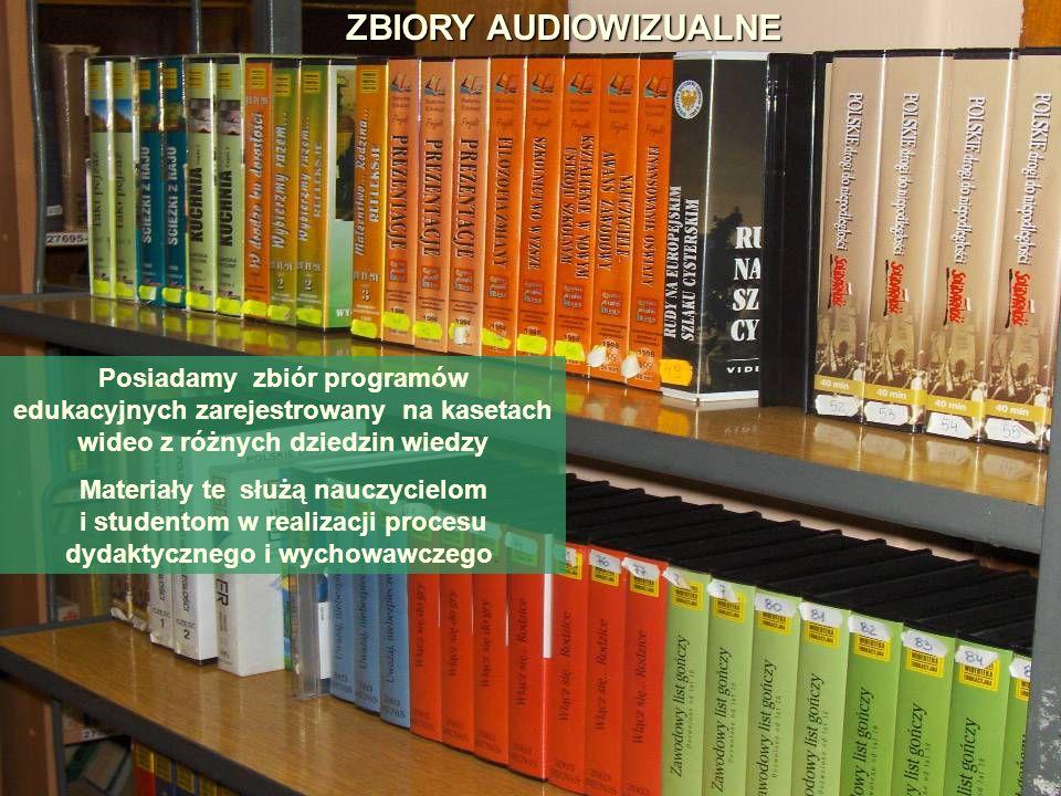 Posiadamy zbiór programów edukacyjnych zarejestrowany na kasetach wideo z różnych dziedzin wiedzy Materiały te służą nauczycielom i studentom w realiz