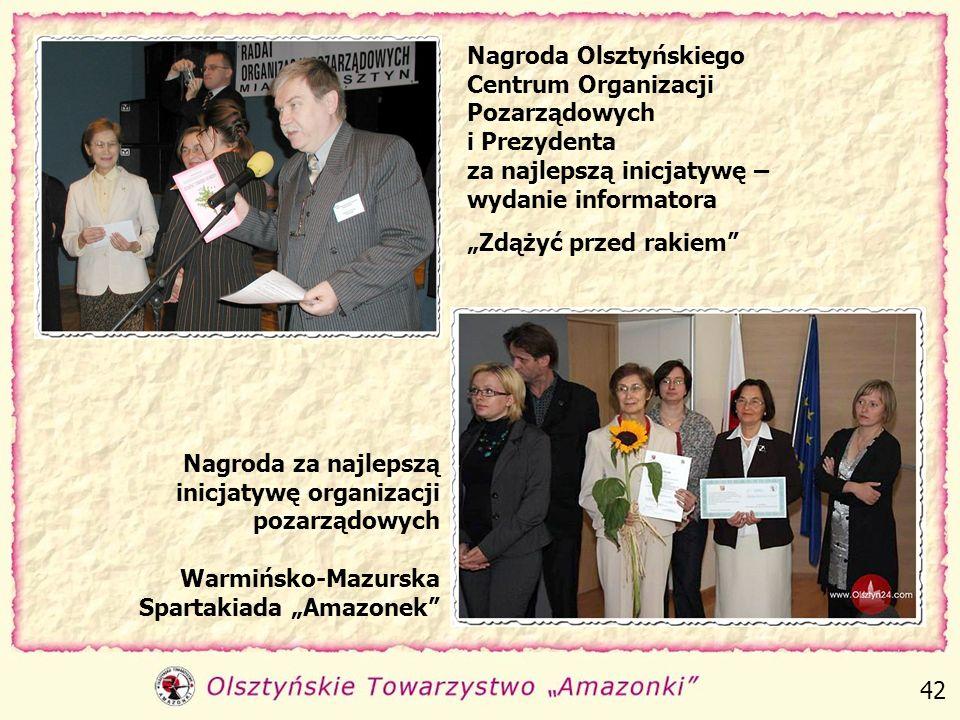 Nasze działania zostały docenione przez władze państwowe, samorządowe oraz Warmińsko-Mazurski Sejmik Osób Niepełnosprawnych. 41