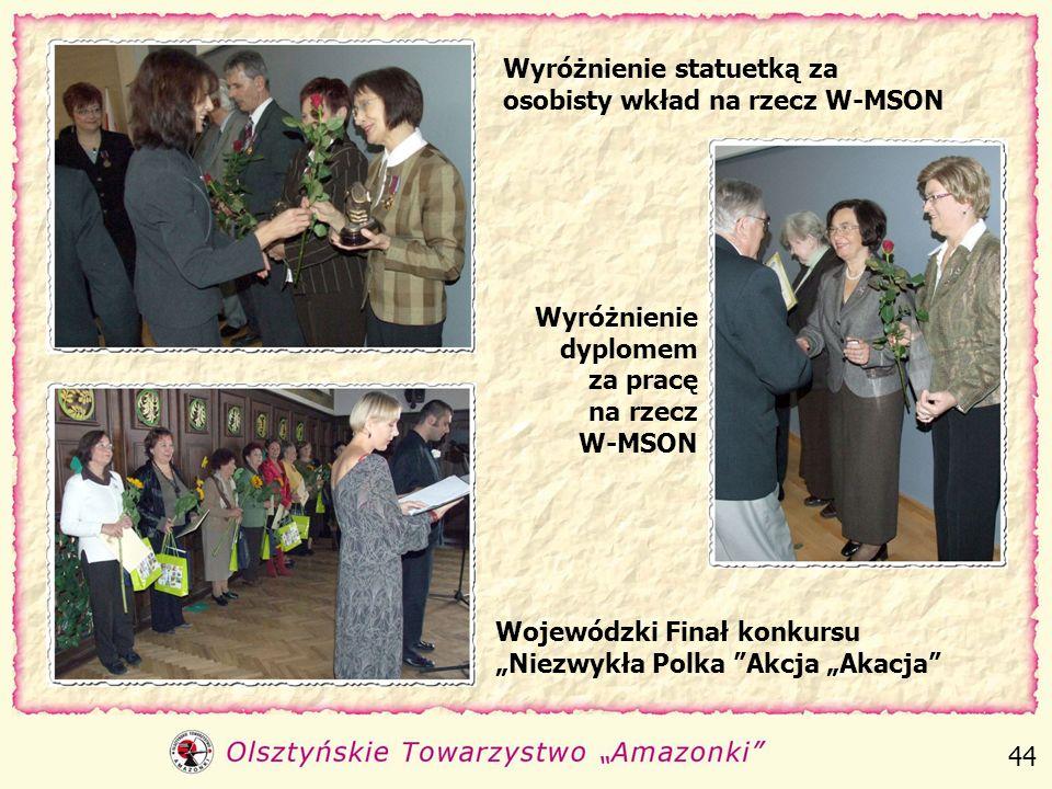Kobieta Sukcesu roku 2006 w głosowaniu słuchaczy Radia Olsztyn Plebiscyt Kobiety z Charakterem Kobieta Niezwykła - plebiscyt Nowego Życia Olsztyna 43