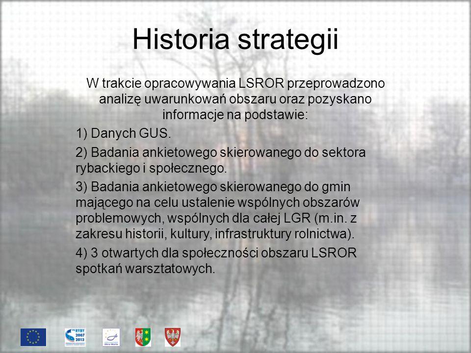 Historia strategii Tematyka spotkań warsztatowych: 1) Opis obszaru objętego Strategią.