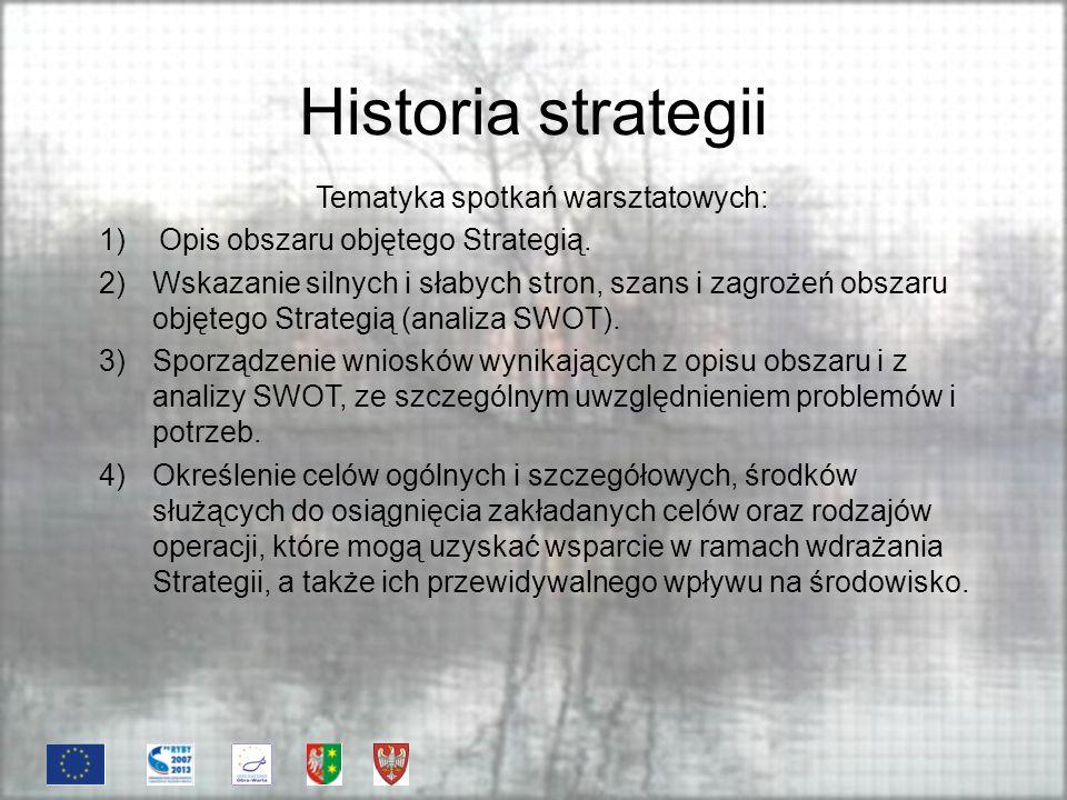 Historia strategii Tematyka spotkań warsztatowych: 5) Budżet LSROR.
