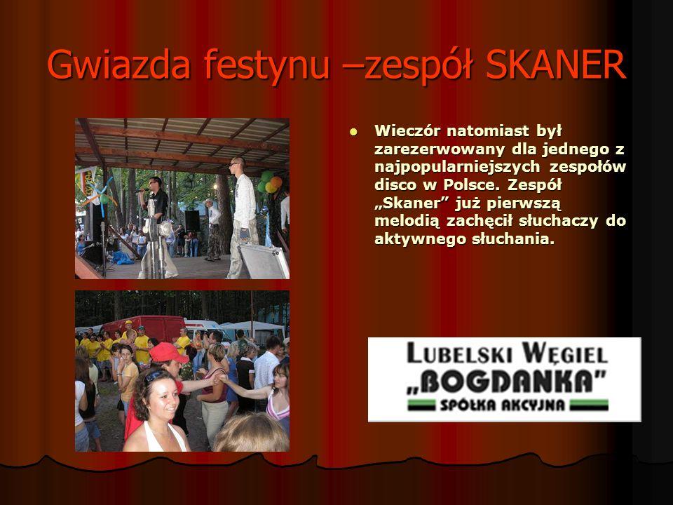 Gwiazda festynu –zespół SKANER Wieczór natomiast był zarezerwowany dla jednego z najpopularniejszych zespołów disco w Polsce. Zespół Skaner już pierws