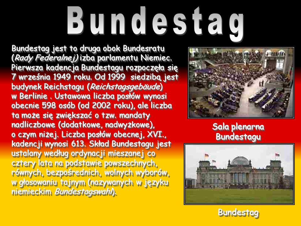 Bundestag jest to druga obok Bundesratu (Rady Federalnej) izba parlamentu Niemiec. Pierwsza kadencja Bundestagu rozpoczęła się 7 września 1949 roku. O