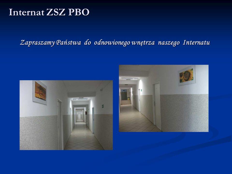 Pokoje mieszkalne Internat ZSZ PBO