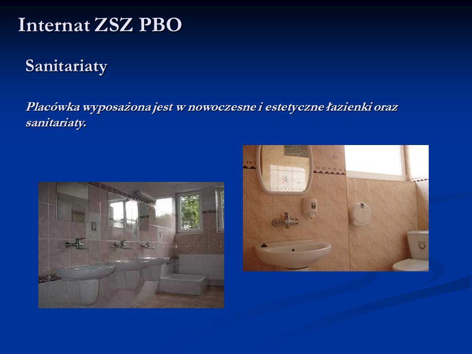 Sanitariaty Placówka wyposażona jest w nowoczesne i estetyczne łazienki oraz sanitariaty. Internat ZSZ PBO