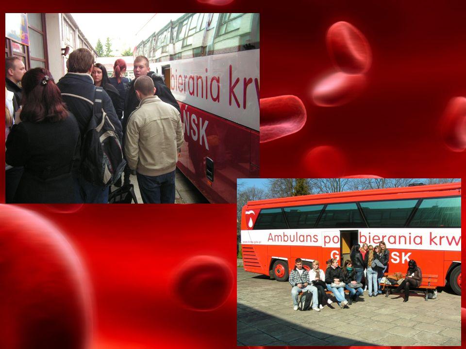 DAR SERCA Nasza pierwsza akcja ambulansowego poboru krwi była spontanicznym odruchem chęci pomocy naszej uczennicy i jej rodzinie, którzy zostali poważnie ranni w wypadku samochodowym.