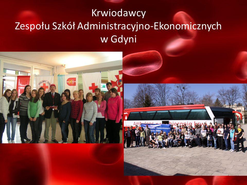 Krwiodawcy Zespołu Szkół Administracyjno-Ekonomicznych w Gdyni