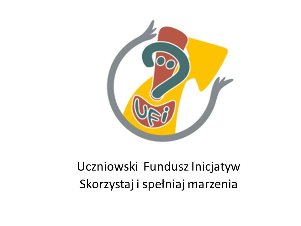 Co to jest UFI Program UFI to możliwość otrzymania funduszy w celu realizacji uczniowskich pomysłów Program UFI Program nie odrzuca żadnych projektów z wyjątkiem projektów godzących w dobre imię szkoły i ogólnie przyjęte normy społeczne.