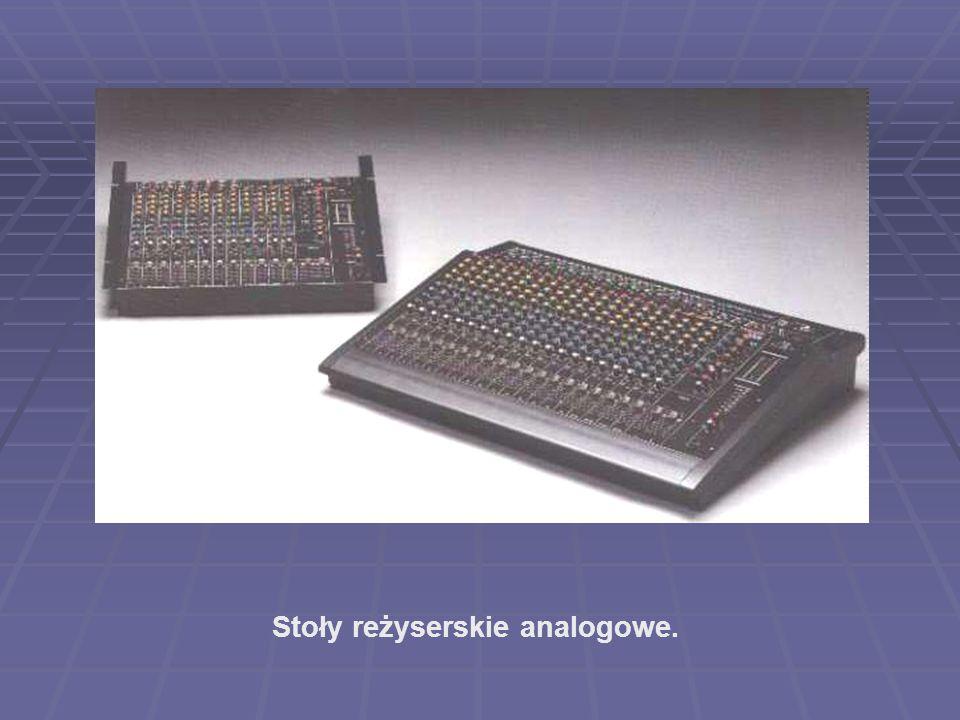 Stoły reżyserskie analogowe.