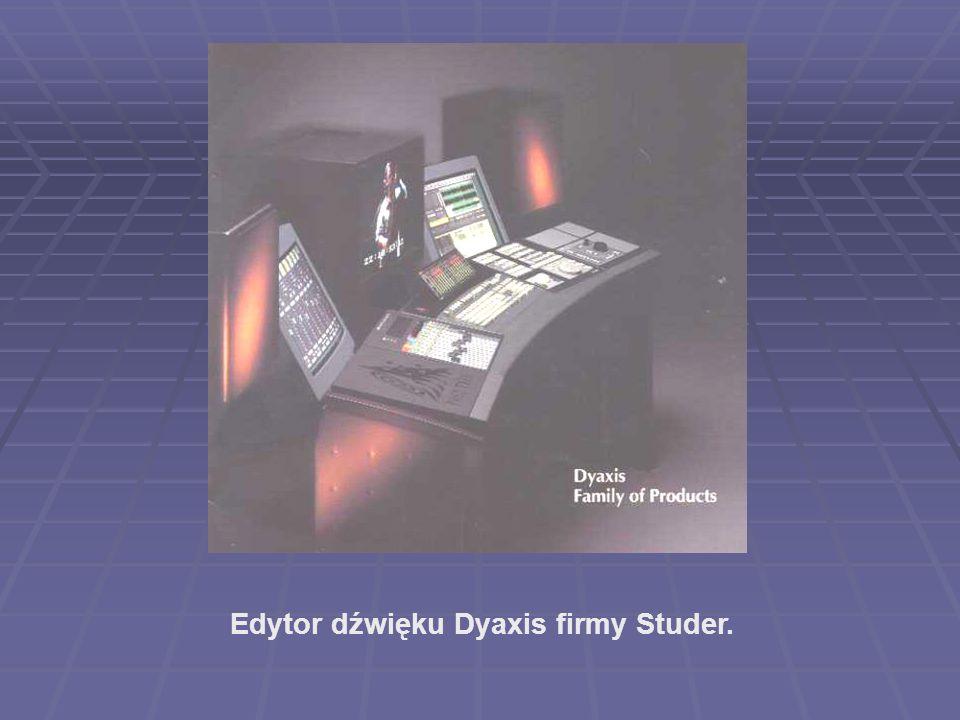 Edytor dźwięku Dyaxis firmy Studer.