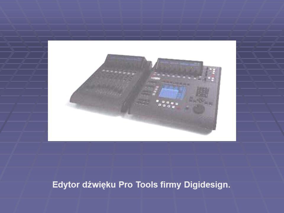 Edytor dźwięku Pro Tools firmy Digidesign.