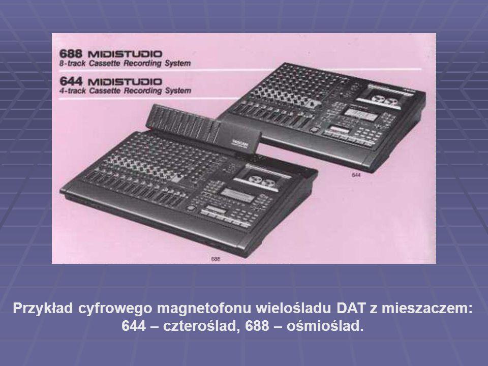 Przykład cyfrowego magnetofonu wielośladu DAT z mieszaczem: 644 – czteroślad, 688 – ośmioślad.