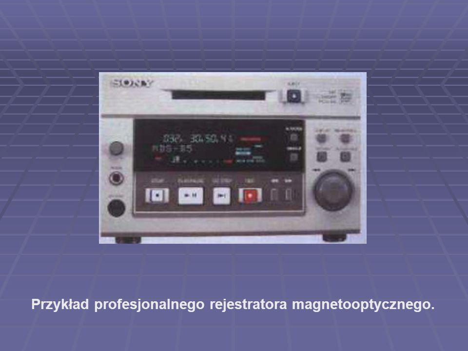 Przykład profesjonalnego rejestratora magnetooptycznego.