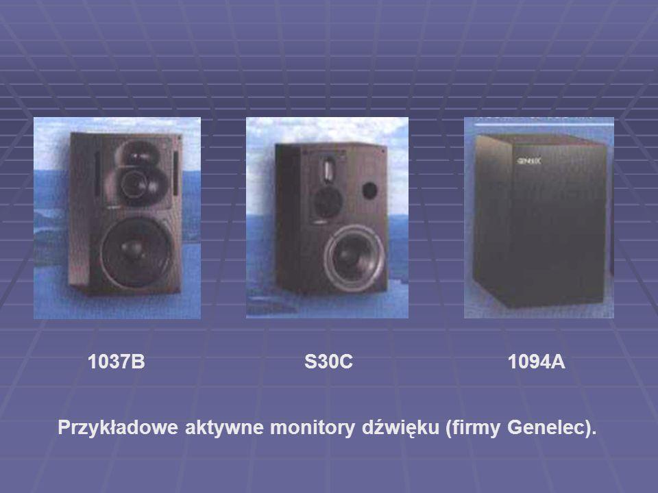 Przykładowe aktywne monitory dźwięku (firmy Genelec). 1037BS30C1094A