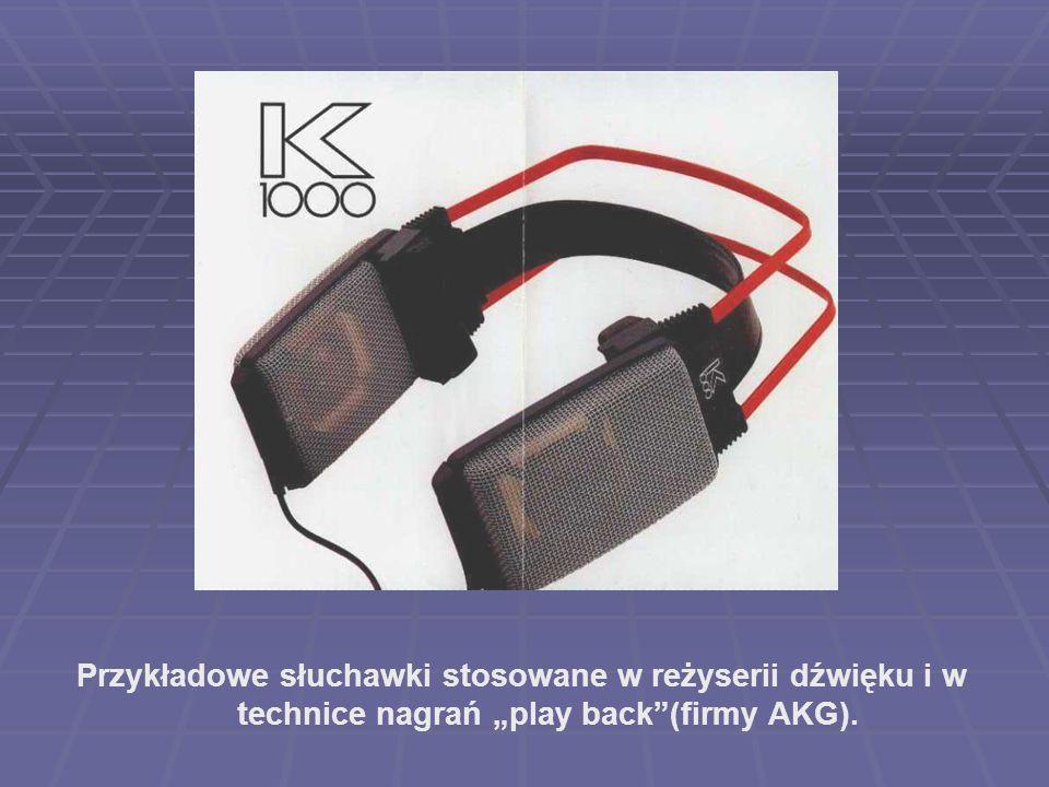 Przykładowe słuchawki stosowane w reżyserii dźwięku i w technice nagrań play back(firmy AKG).