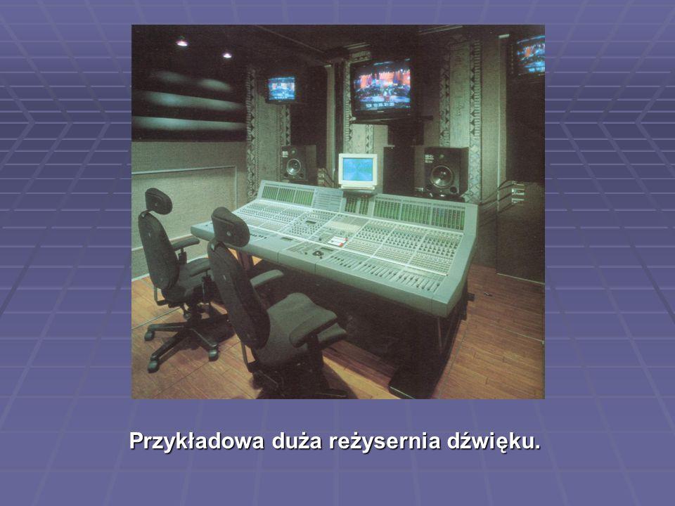 Przykładowa duża reżysernia dźwięku.
