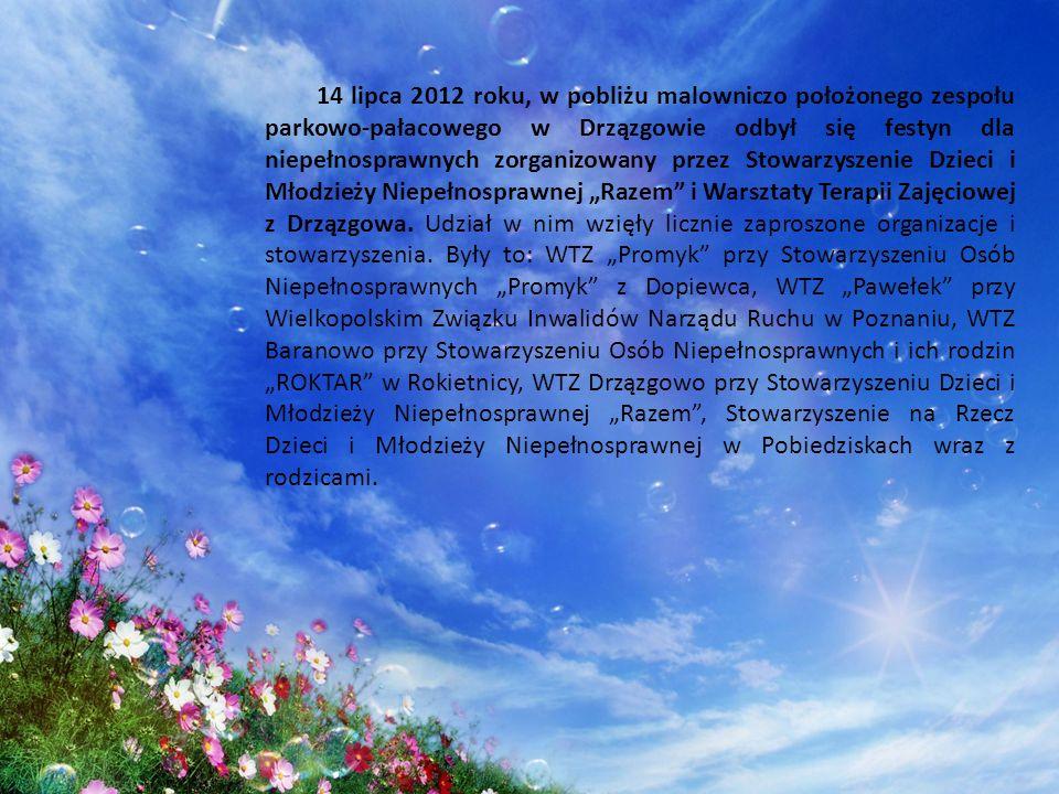 14 lipca 2012 roku, w pobliżu malowniczo położonego zespołu parkowo-pałacowego w Drzązgowie odbył się festyn dla niepełnosprawnych zorganizowany przez