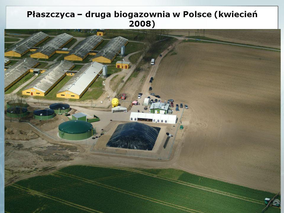 Płaszczyca – druga biogazownia w Polsce (kwiecień 2008)