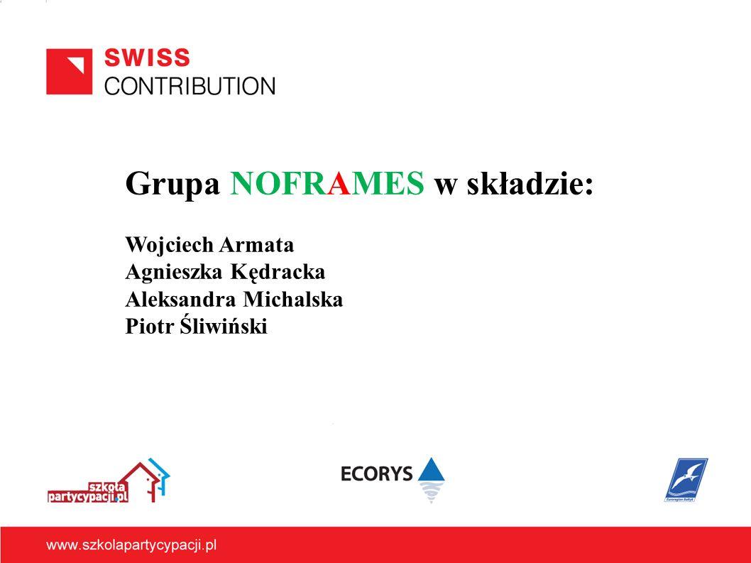 Grupa NOFRAMES w składzie: Wojciech Armata Agnieszka Kędracka Aleksandra Michalska Piotr Śliwiński