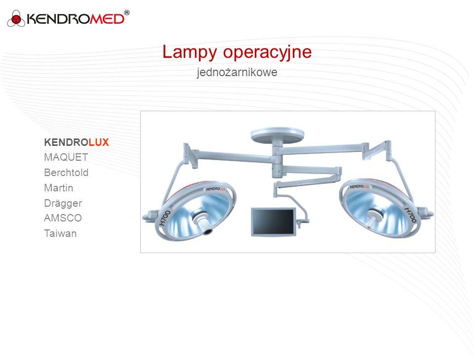 jednożarnikowe KENDROLUX MAQUET Berchtold Martin Drägger AMSCO Taiwan Lampy operacyjne