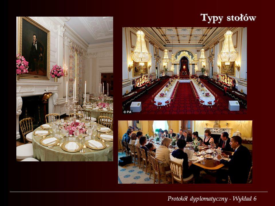 Protokół dyplomatyczny - Wykład 6 Typy stołów