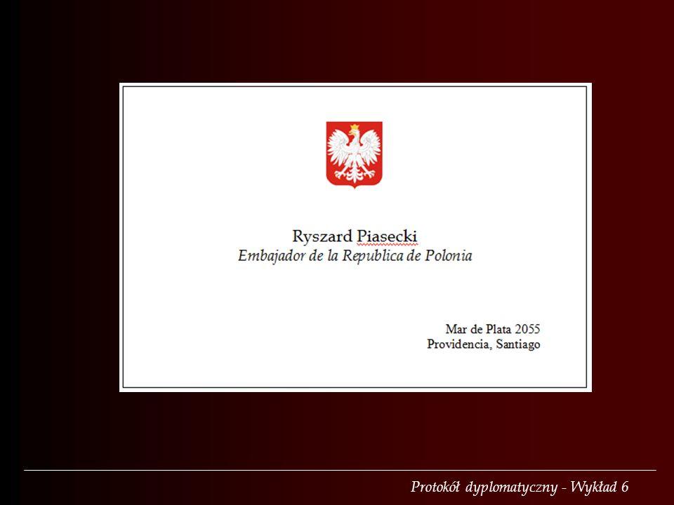 Protokół dyplomatyczny - Wykład 6
